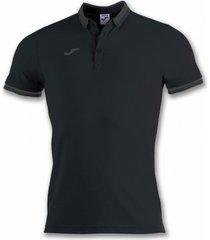 polo shirt korte mouw joma bali ii zwart m/c poloshirt (100748-100)