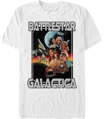 fifth sun battlestar galactica men's classic retro poster short sleeve t-shirt