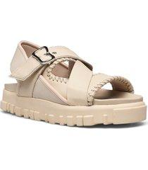 national sandal stitch shoes summer shoes flat sandals beige holzweiler