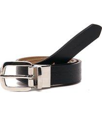 cinturón doble faz negro-amarillo tannino