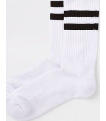 river island mens white black stripe tube socks
