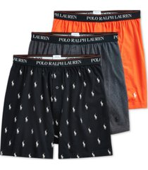 polo ralph lauren men's 3-pack knit boxers