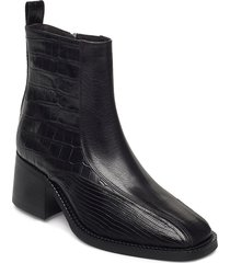 boots 4813 shoes boots ankle boots ankle boot - heel svart billi bi