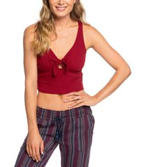 roxy juniors' love gifts cropped tank top