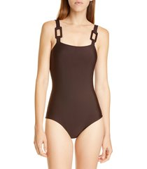 women's adriana degreas solid one-piece swimsuit