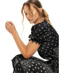 black bandana long dress