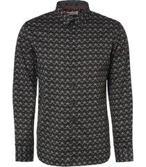 no excess shirt long sleeve all over printed dark grey