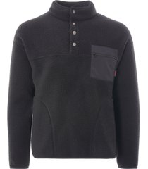 gramicci boa fleece zip jacket | black | gm-410843