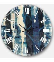 designart country charm oversized metal wall clock