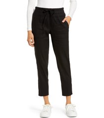 women's kut from the kloth drawcord waist crop pants, size x-large - black
