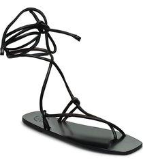 alezio nappa shoes summer shoes flat sandals svart atp atelier