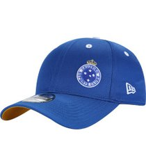 boné aba curva do cruzeiro new era 940 sn - snapback - adulto - azul