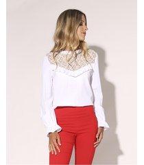 blusa blanca prussia alem