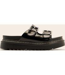 na-kd shoes spänne sandaler - black