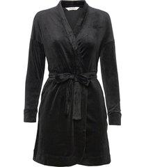 robe velours morgonrock svart hunkemöller