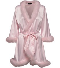 candice feather kimono morgonrock rosa ow intimates