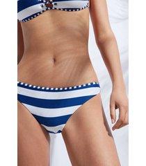 calzedonia swimsuit bottoms santorini woman blue size 5