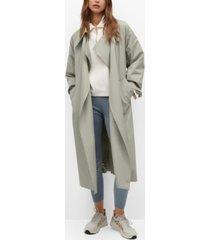 mango oversize water-repellent trench coat
