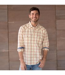 selkirk plaid shirt - natural