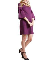 women's ingrid & isabel bell sleeve ponte knit maternity dress