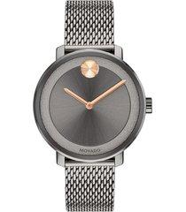 women's movado bold mesh bracelet watch, 34mm