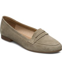 woms slip-on loafers låga skor beige tamaris