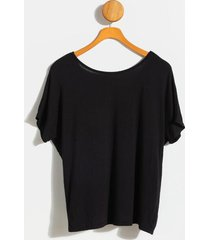 emma twist back tee - black