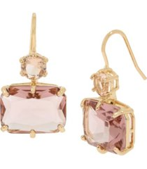 jessica simpson mixed stone double drop earrings, 1.25""