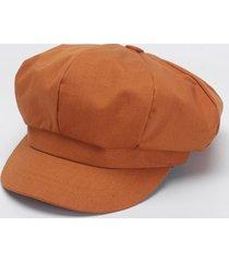 cappellino berretto con cappuccio ottagonale in cotone tinta unita con cappuccio cappellino da pittore di moda casual elegante