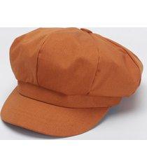 cappellino berretto con cappuccio ottagonale in cotone tinta unita da donna cappellino da pittore di moda casual elegante