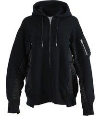 black zip hoodie sweatshirt