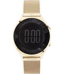 relógio feminino technos bj3572aa/4p aço