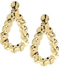classico 18k yellow gold disk drop earrings