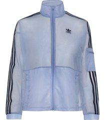 mesh track top sweat-shirt tröja blå adidas originals