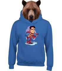 buzo chaqueta superman
