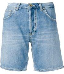 dondup straight-fit denim shorts - blue