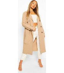 utility pocket trench coat, stone