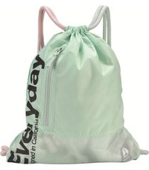 bolso everyday cinch bag ii invisible mint nixon
