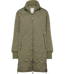 frlaenglish 2 outerwear gevoerde lange jas groen fransa