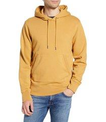 men's madewell hooded sweatshirt, size xx-large - yellow