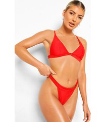 essentials tanga bikini broekje met brede taille band, rood