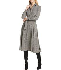 women's polo ralph lauren houndstooth long sleeve midi dress
