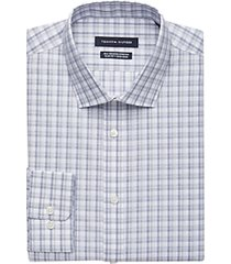 tommy hilfiger blue & gray check slim fit dress shirt
