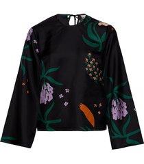 mysteeri herbaario shirt blouse lange mouwen zwart marimekko