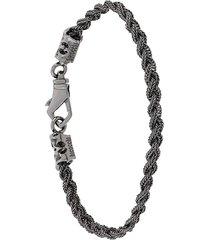 emanuele bicocchi mesh woven bracelet - grey