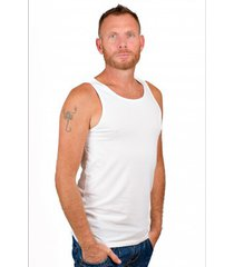 rj bodywear men singlet white.