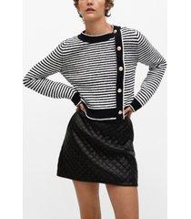 mango women's buttoned striped sweater