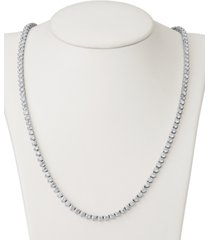 """certified diamond all-around 17"""" tennis necklace (11 ct. t.w.) in 14k white gold"""