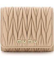 miu miu small quilted wallet