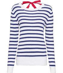 maglione a righe con fiocco (blu) - rainbow